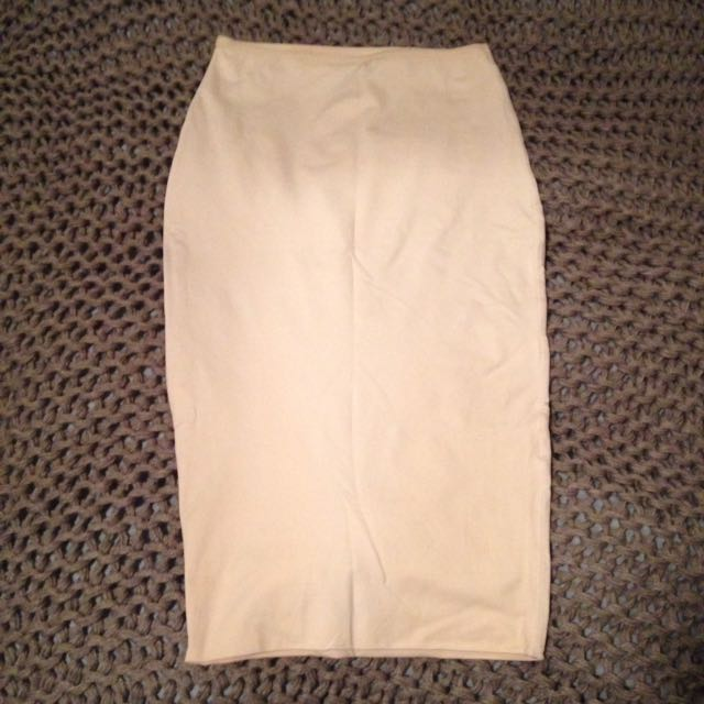 Kookai white midi skirt