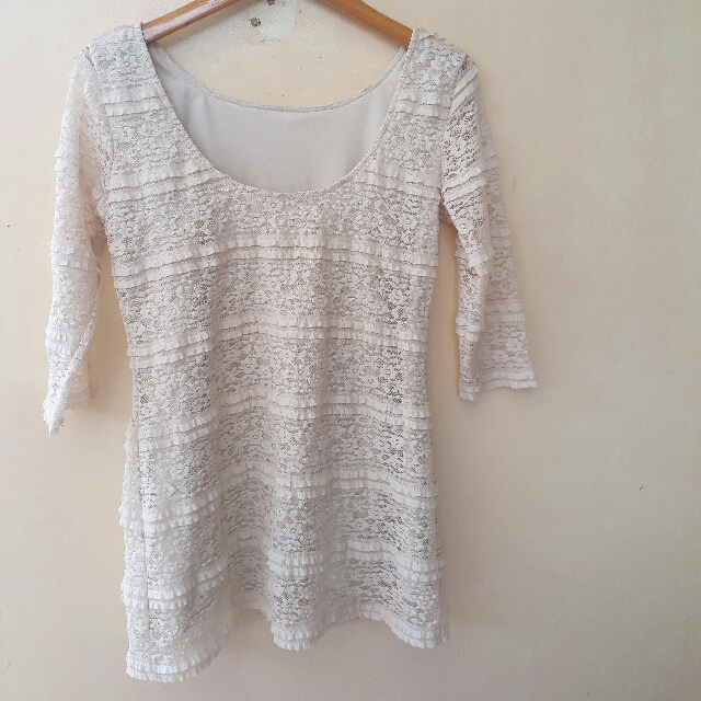 Lacy Long Blouse