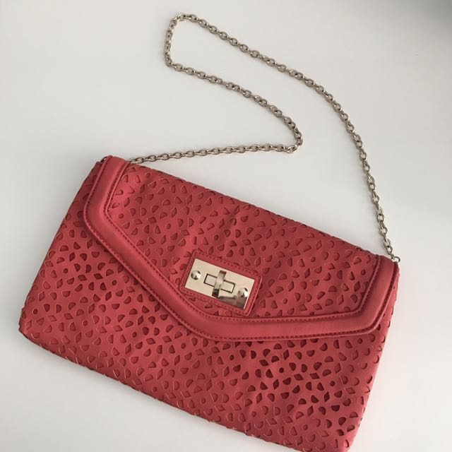 Laser-cut clutch/shoulder bag