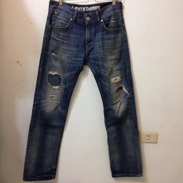 Levis 601 破壞 補丁 牛仔褲