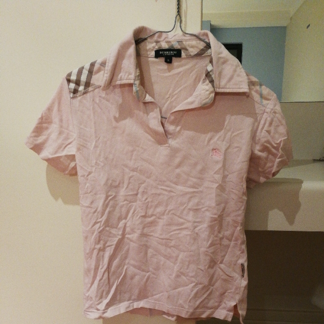 light pink Burberry style shirt size 8