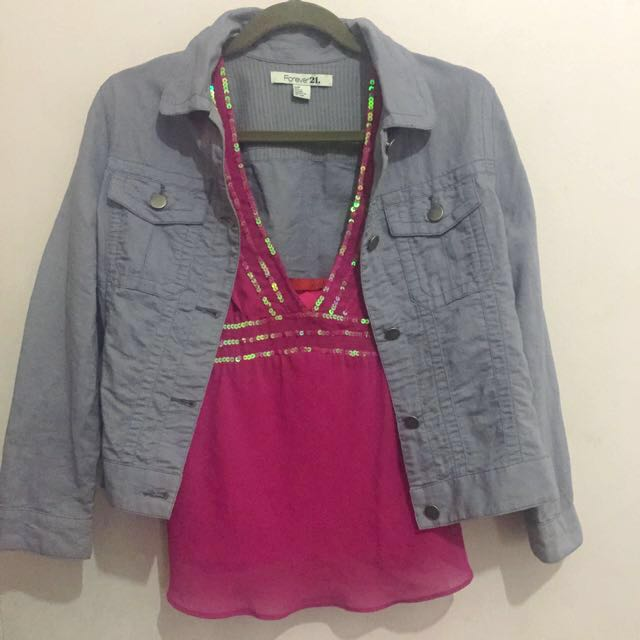 LUCCA Sequined Top