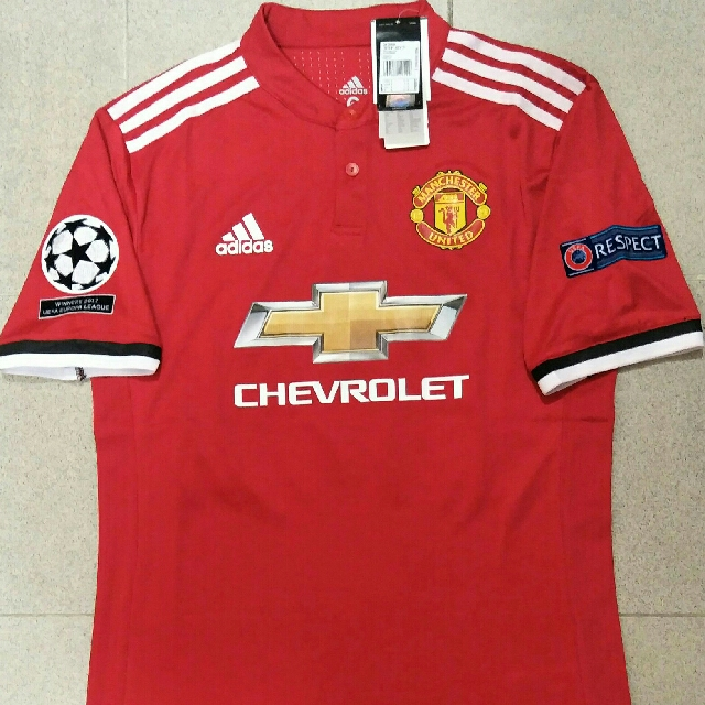 Manchester United 17 18 Champion League Home Jersey Adizero Printed With Zlatan  Ibrahimovic 10 b6ff86422