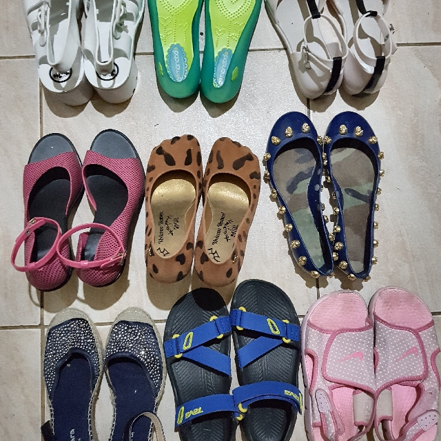 Melissa, Juju, Jelly Shoes, Sandals, Espadrille Wedge