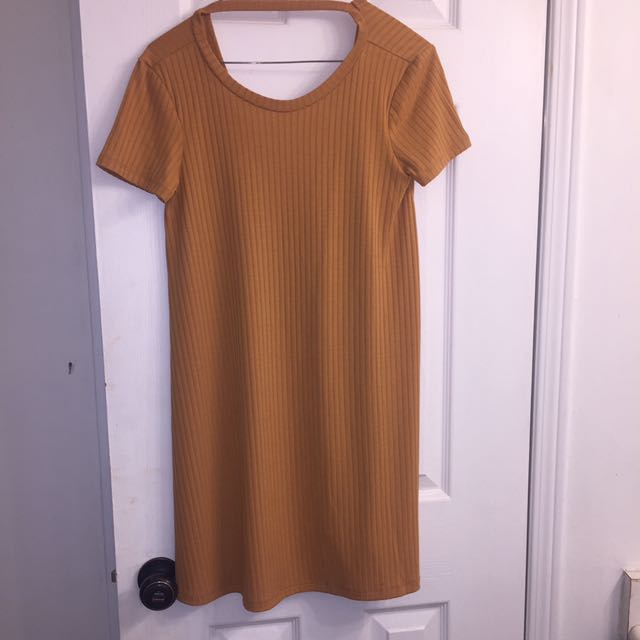 Mustard dress from Forever 21