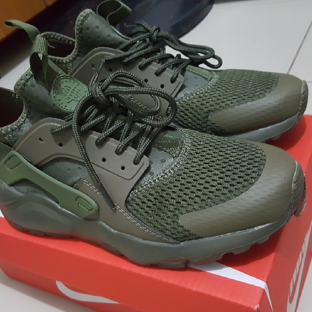 big sale ea768 b633a Nike AIR HUARACHE RUN ULTRA BREATHE 833147 200 Olive Green T