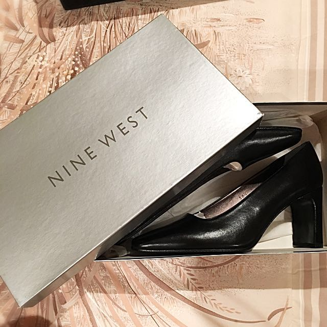 Nine West Black Leather Heels