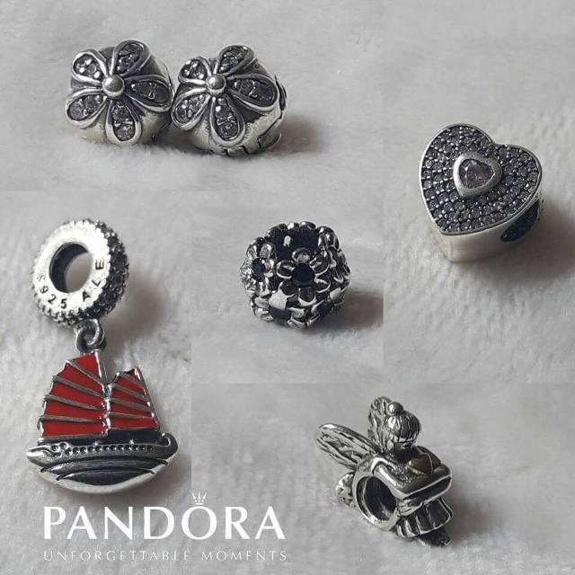Pandora charms and clips