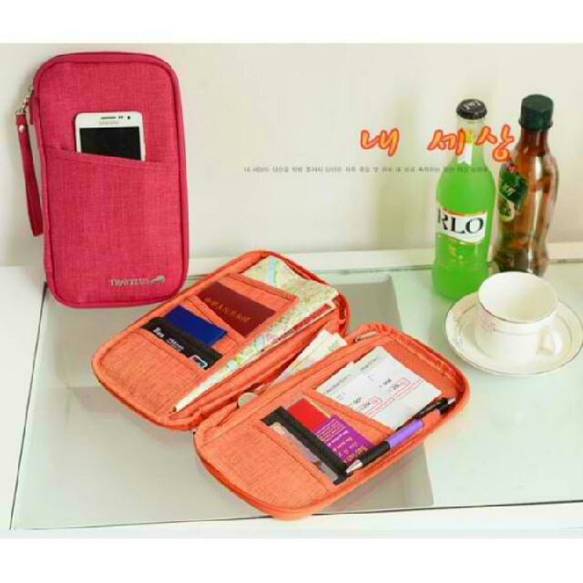 Passport Wallet Availablen Colors: Gray, Green, Orange, Violet, Rose Red