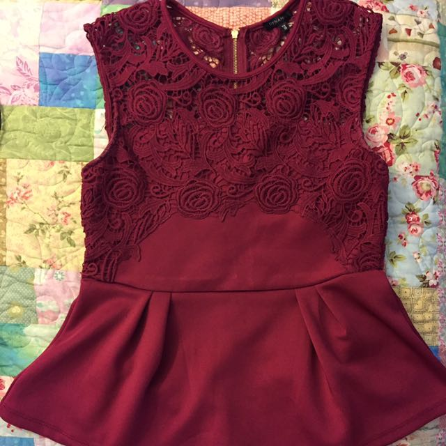 Peplum lace top