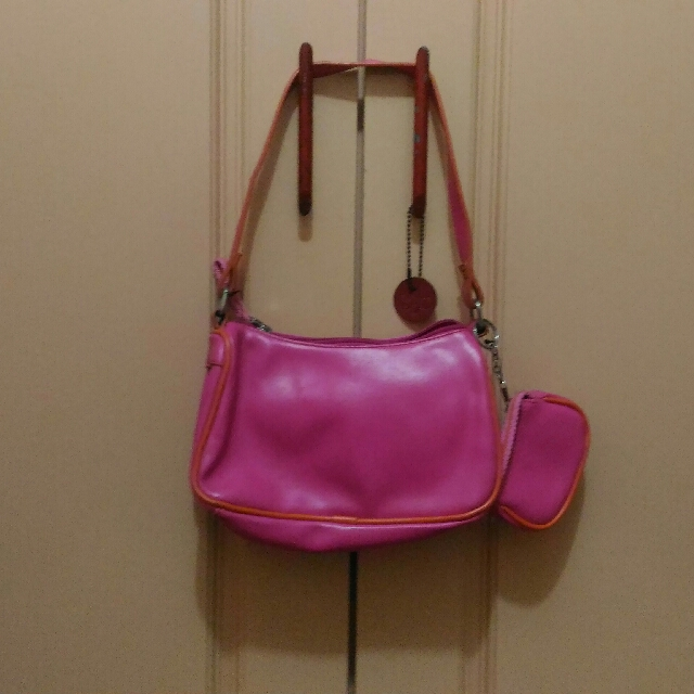 Pink Bag With Purse