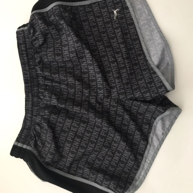 PINK workout shorts with inner lining