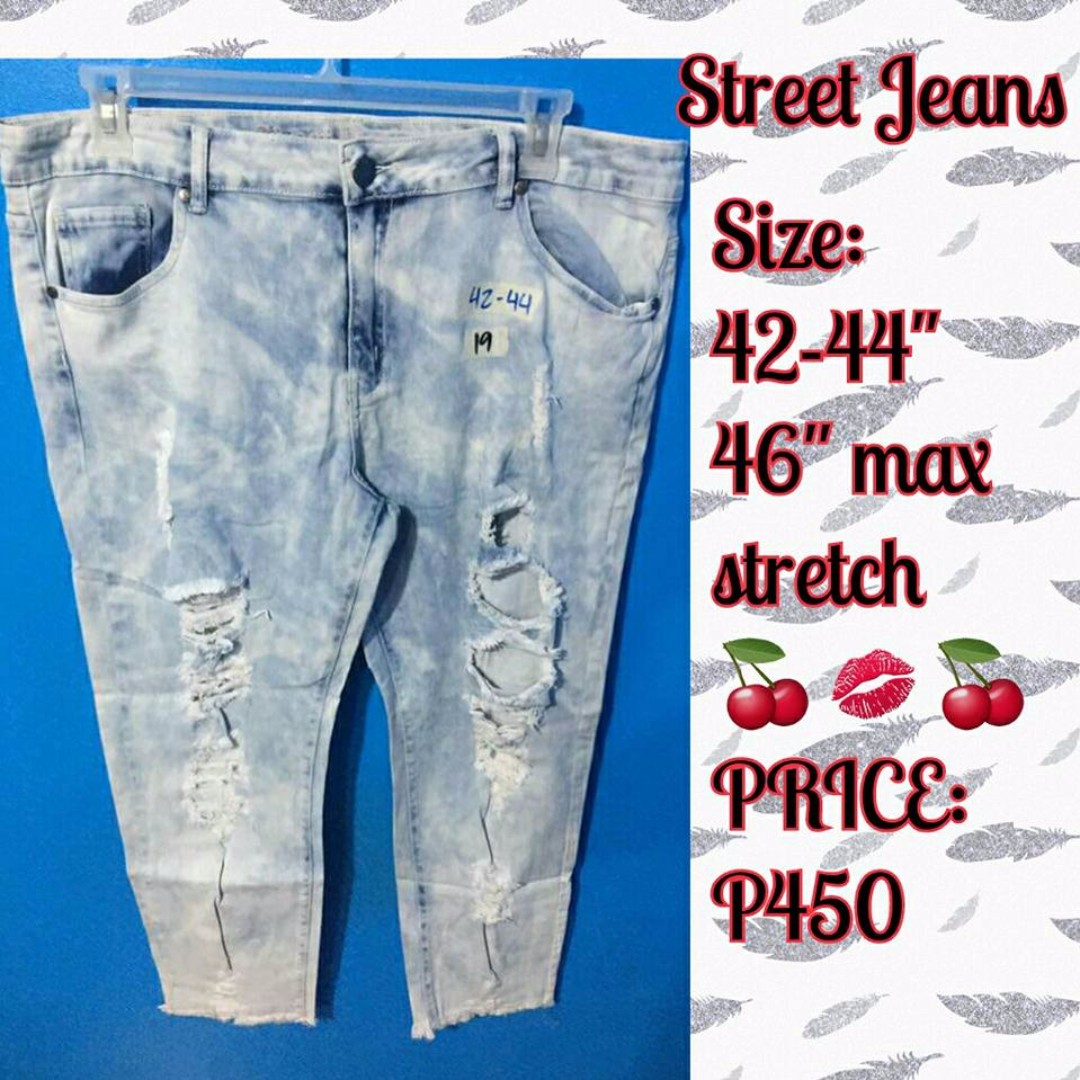"""PLUS SIZE TATTERED JEANS 42-26"""""""