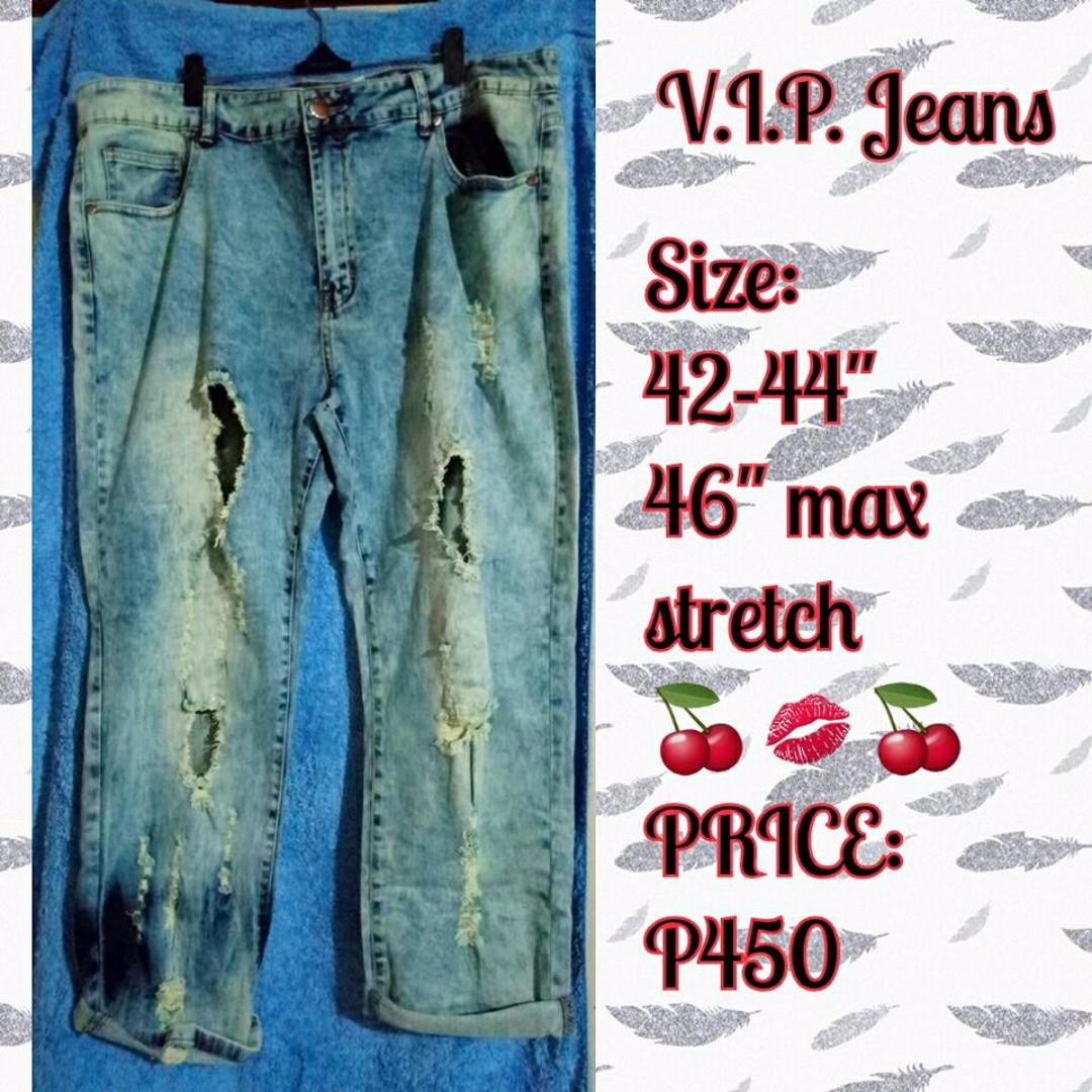 """PLUS SIZE TATTERED JEANS 42-46"""""""