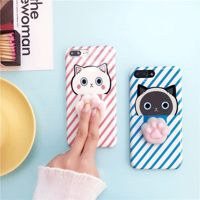 best sneakers f683c f690a [PO/INSTOCKS] Silicone Squishy Cat Paw iPhone case