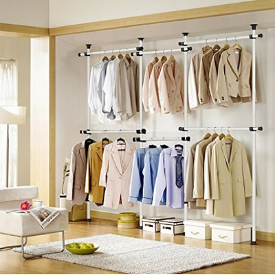 hanger ebay wardrobe load pull rating itm clothes lift down rail with hanging s