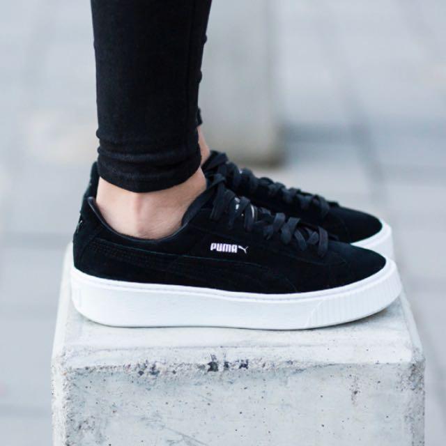 Puma Suede Platforms Sneaker in Black da80c850d