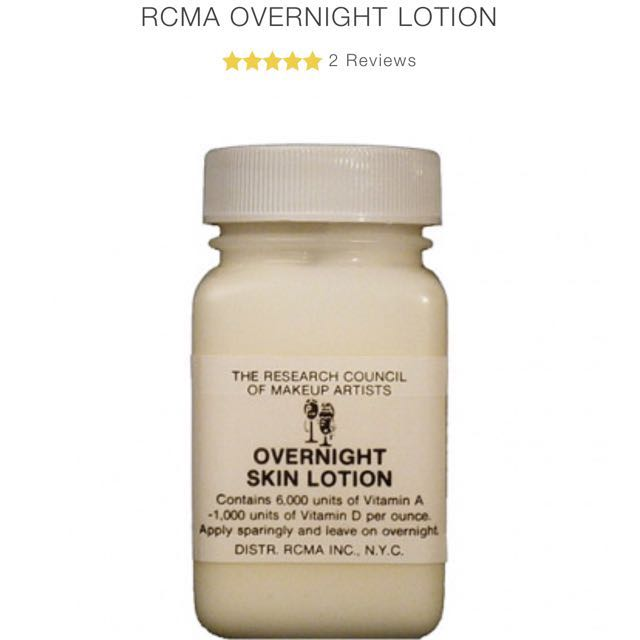 RCMA Overnight Lotion