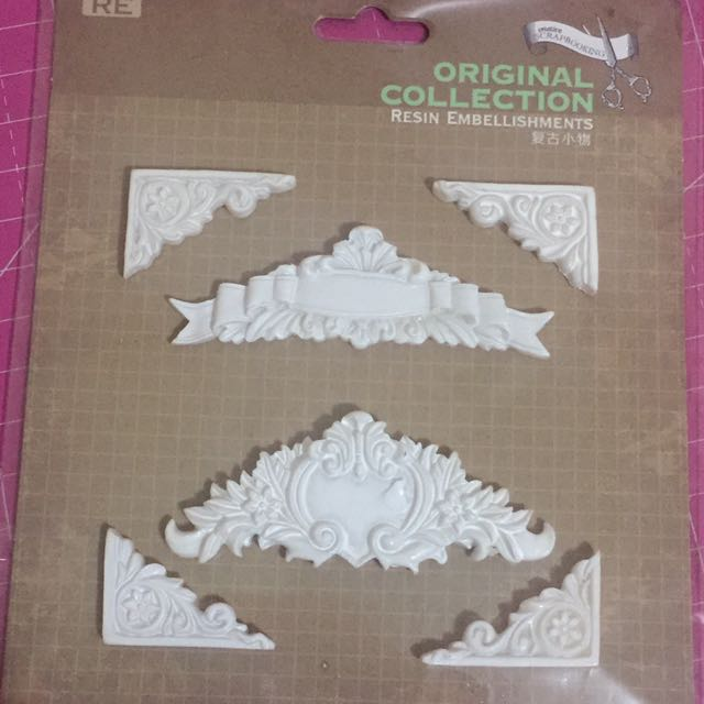 Resin Embellishments for Scrapbook