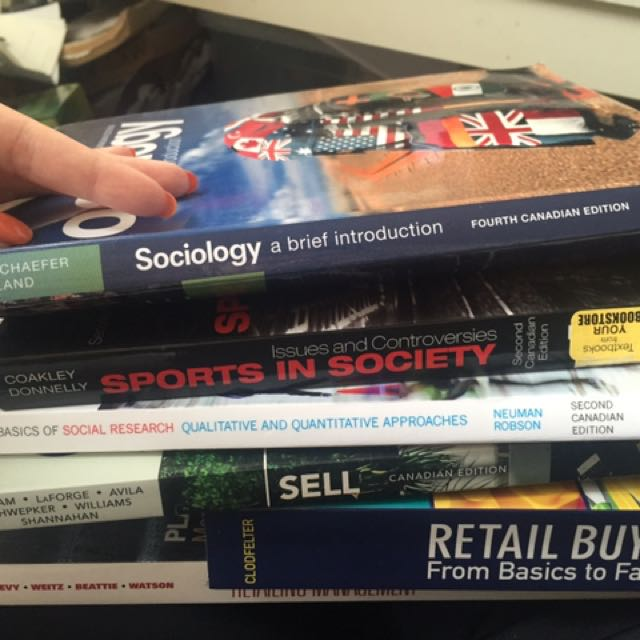 Retail and sociology textbooks