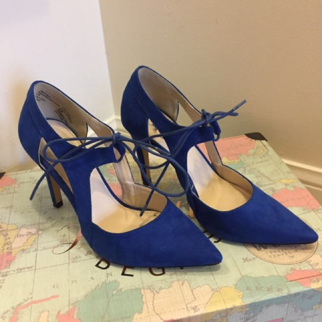 Royal Blue Pumps -size 8