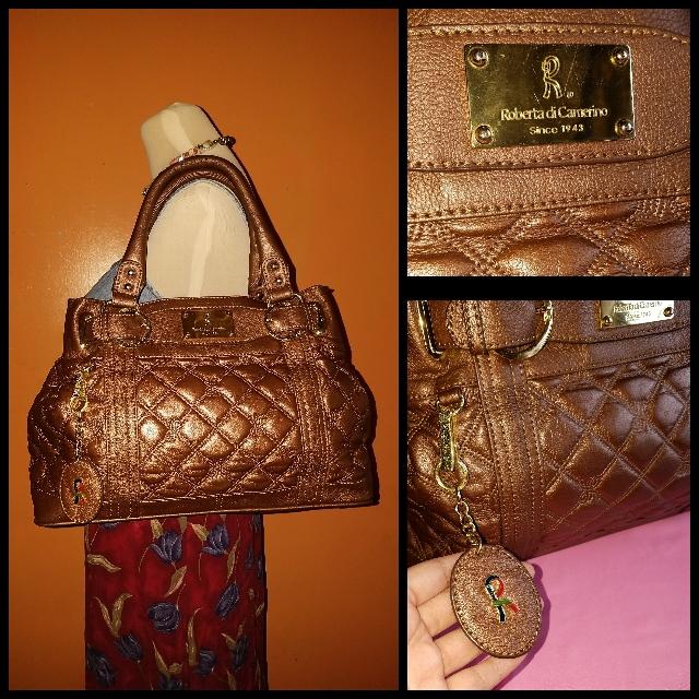 Sale! Roberta De Camerino Metallic Satchel Bag