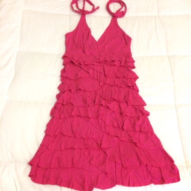 SALE!!! Ruffled Pink Dress