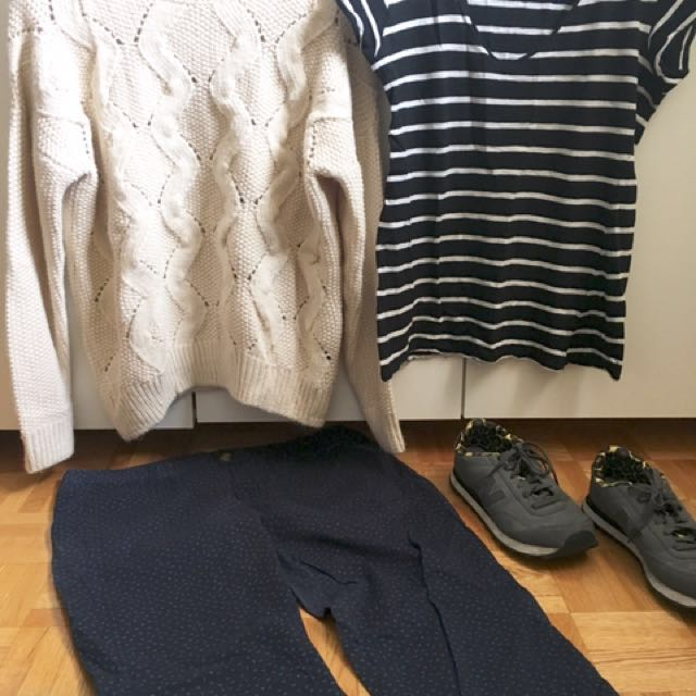 Set 4: Gap Jeans (fits 12-14)| Zara (M) | H&M White (M)| New Balance Shoes (fits 7/8)