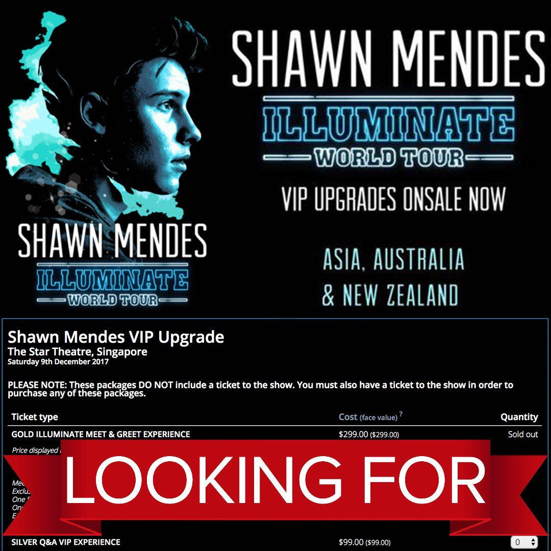 Shawn mendes gold illuminate meet greet experience vip upgrade photo photo m4hsunfo