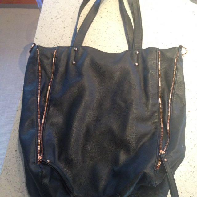 Sportsgirl Tote Bag w Rose Gold Accents
