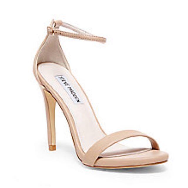 Stevemadden #高跟#細跟#腳踝繫帶粉膚色#裸色一字涼鞋