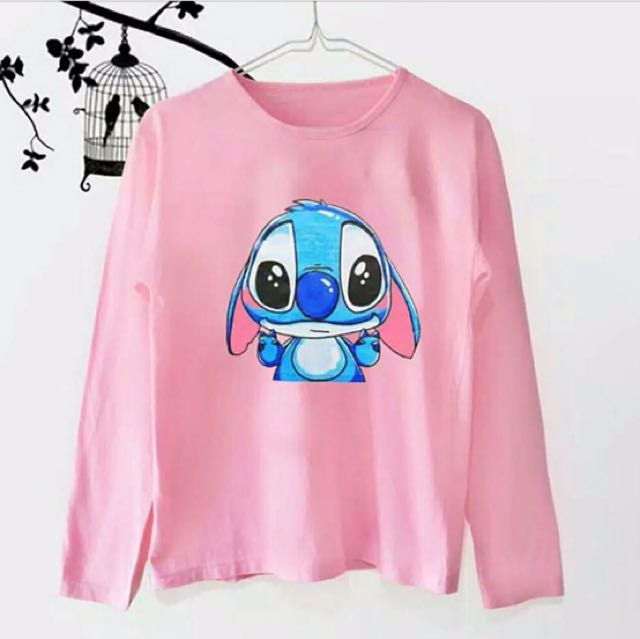 Stitch pink long sleeve