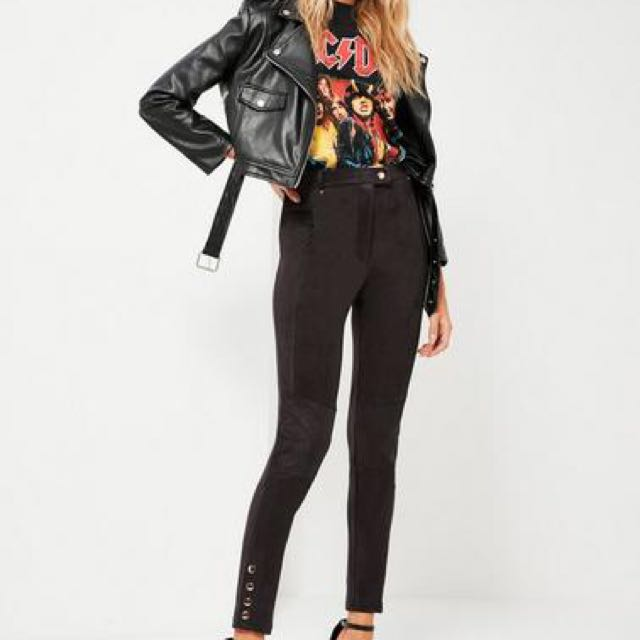 Suede Black high waisted pants