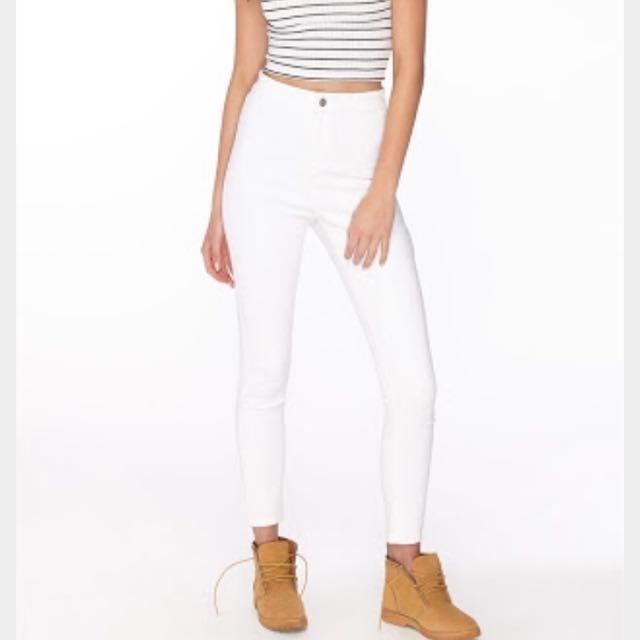 Supre White Jeans Size 10