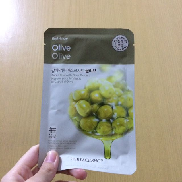 The face shop Olive Face Mask
