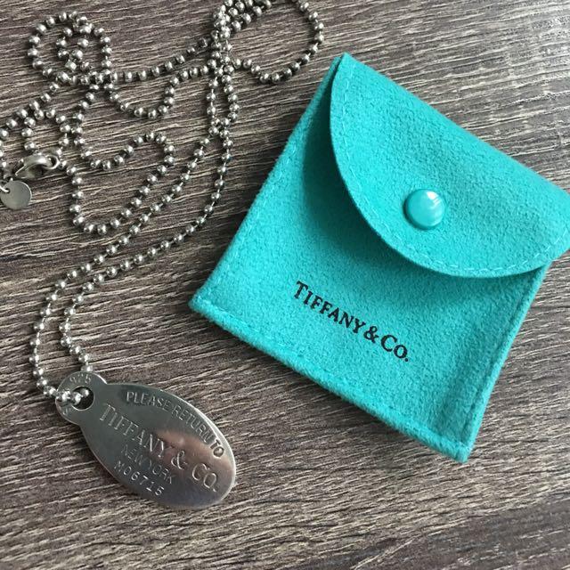 Tiffany & Co Dog Tag necklace