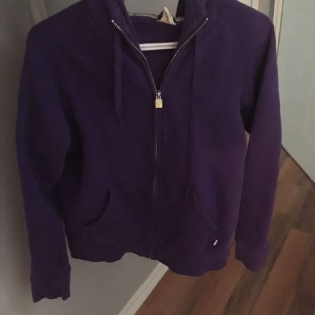 TNA dark purple zip up hoodie