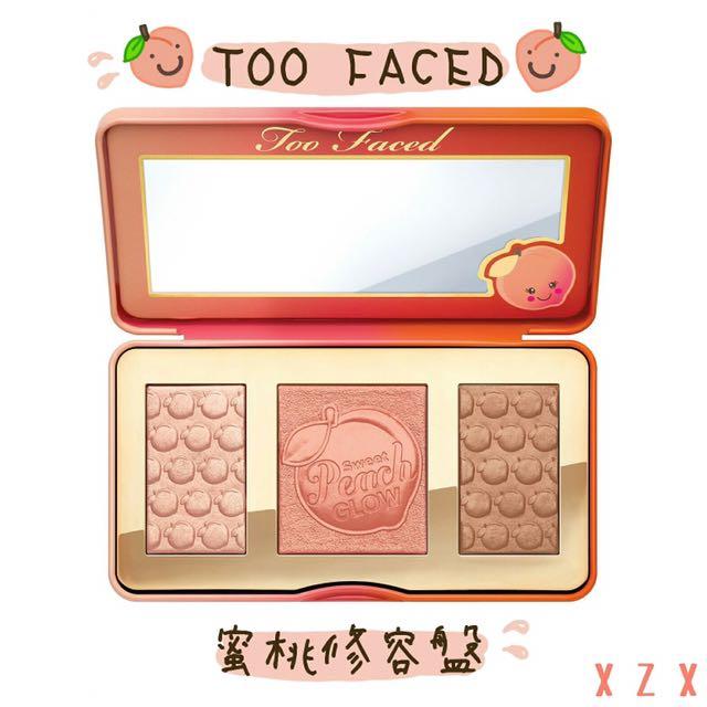 🍑Too Faced 🌟蜜桃系列 修容盤 打亮 腮紅 修容