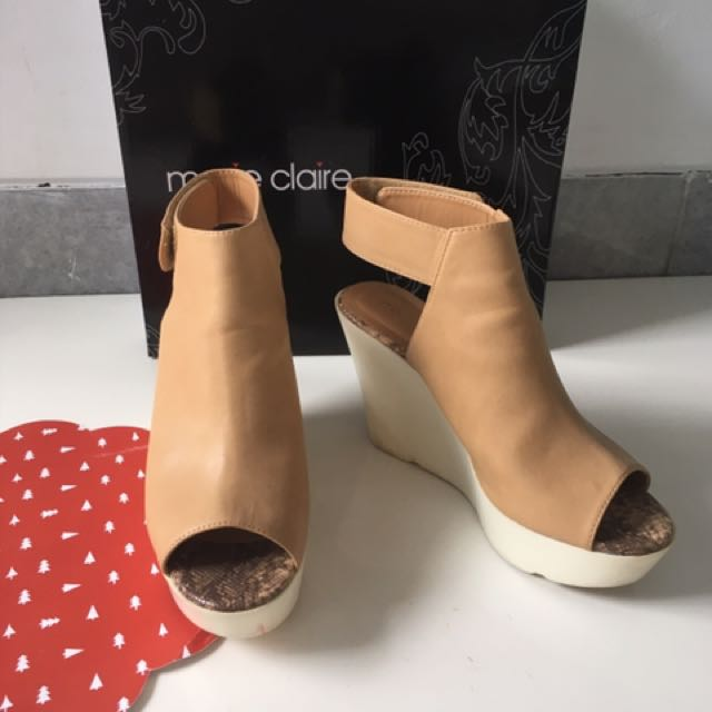 Used Once Marie Claire Wedges Mules