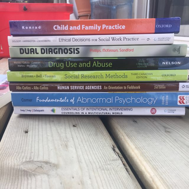 Variety of Social Work and ECE Textbooks