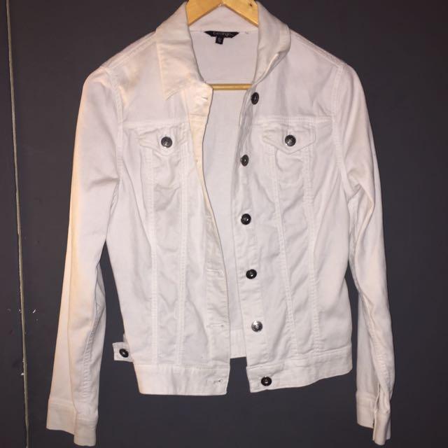 White denim jacket size xs