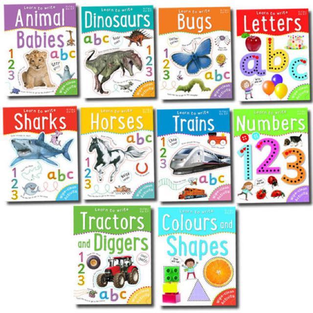 Wipe-clean Activity Book Collection