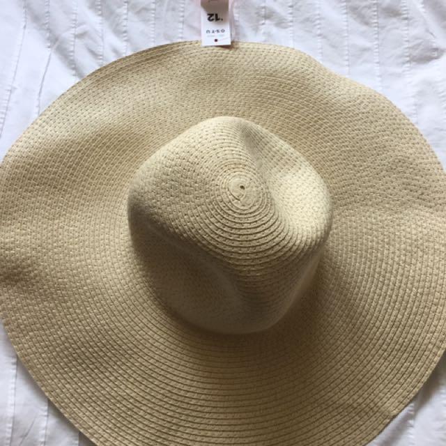 Woven Beach Hat - tan