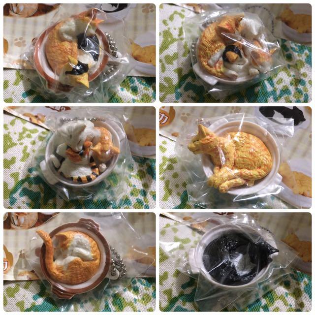 Yujin 貓鍋 扭蛋 磁鐵 吊飾(貓咪絕版扭蛋整套割愛)