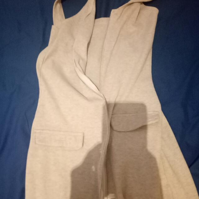 Zip on front dress