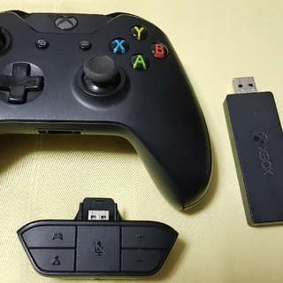Microsoft Xbox One Controller for Windows + Wireless Adapter + Stereo Headset Adapter