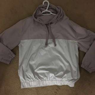 Women's Zara  lavender windbreaker with drawstring