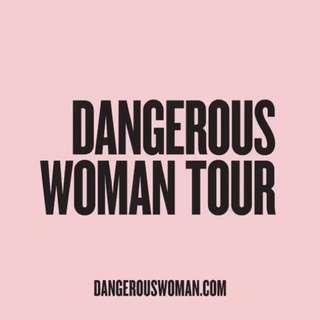Ariana Grande dangerous woman tour ticket*1