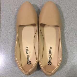 Ballerina Flats (nude) Size 38