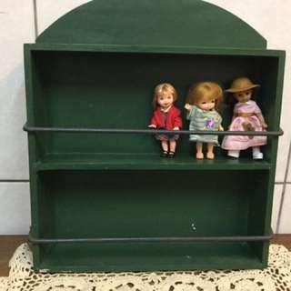古董小東西展示架 調味架 古典 有使用痕跡 免運 不含娃娃